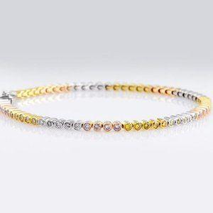 Jewelry - Sapphire Bezel Set Tennis Bracelet 3.5 Carats Mult
